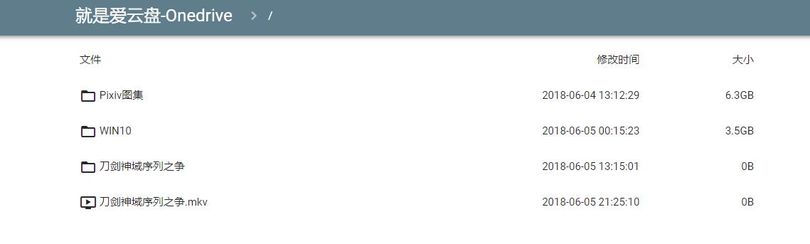 OneIndex:让你的5T OneDrive网盘不在积灰-天照月读|超级月亮